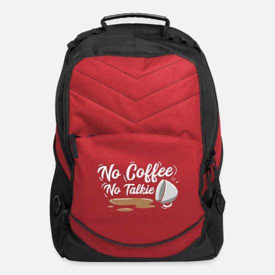Cappuccino Bags & Backpacks - No coffee no talkie or cappuccino at the morning - Computer Backpack red