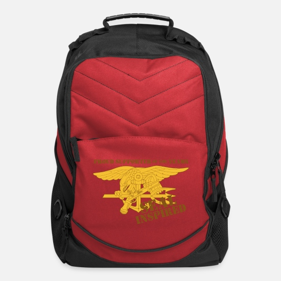 Navy Bags & Backpacks - SEALS support - Computer Backpack red