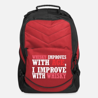Improvement Whisky Improves With Age Improve With Whisky - Computer Backpack