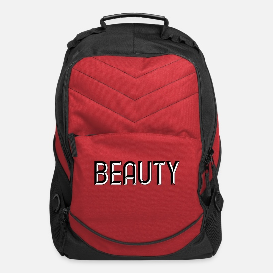 Love Bags & Backpacks - Beauty - beautiful - pretty - burlesque - glamour - Computer Backpack red