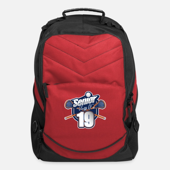 Senior Bags & Backpacks - Senior Class of 2019 Lacrosse Graduate - Computer Backpack red