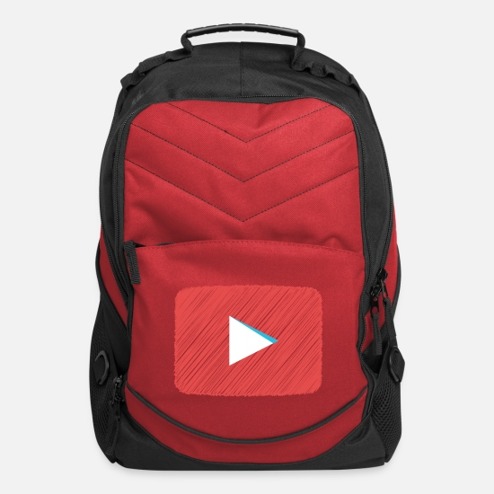 Youtube Bags & Backpacks - YouTube Scribbled Logo - Computer Backpack red