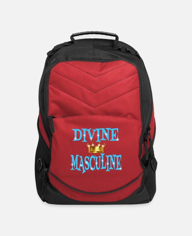 "Masculine Bags & Backpacks - ""Divine Masculine"" - Computer Backpack red"