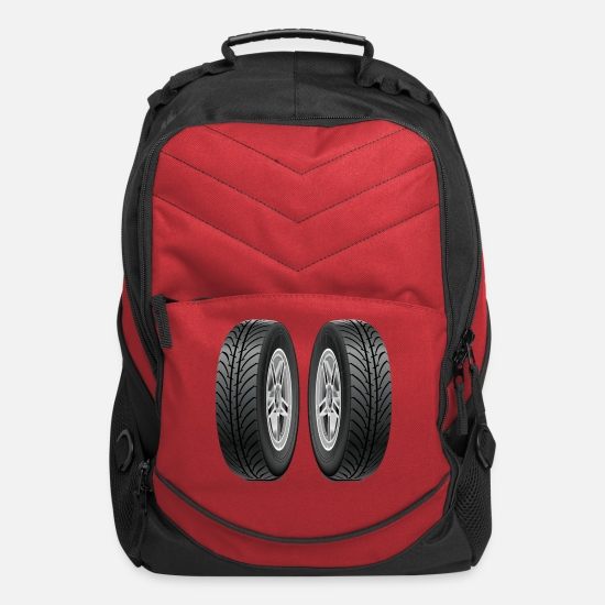 Motorcycle Bags & Backpacks - Tires - Computer Backpack red