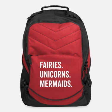 Sea Fairies Unicorns Mermaids Quote - Computer Backpack