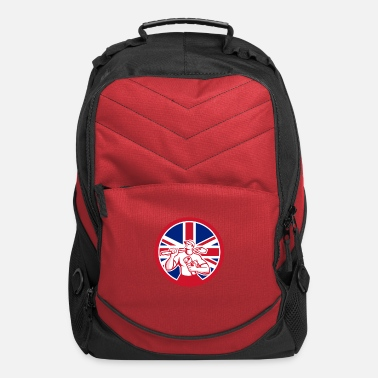 Great Britain British Drainlayer Union Jack Flag Icon - Computer Backpack