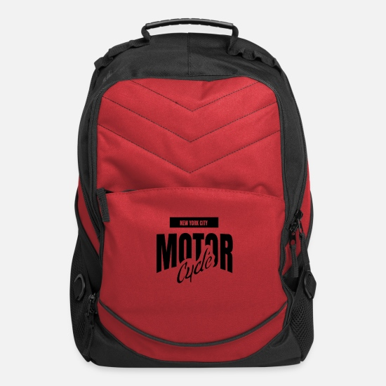 Motor Bags & Backpacks - Motor cycle - Computer Backpack red