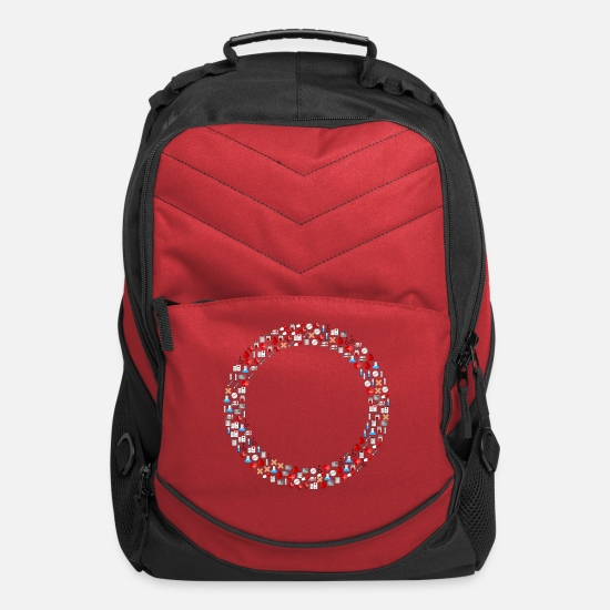 Art Bags & Backpacks - Medical Icons Torus - Computer Backpack red