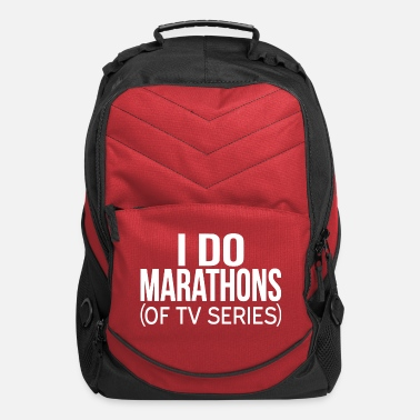 Watch Tv I Do Marathons (Of TV Series) - Computer Backpack