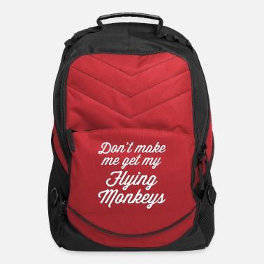 Rude Flying Monkeys Funny Quote - Computer Backpack