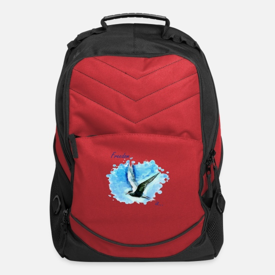 Blue Sky Bags & Backpacks - Freedom is... - Computer Backpack red