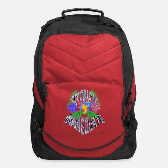Weed Bags & Backpacks - Stoned Immaculate - Computer Backpack red