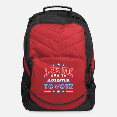 Check Mark Patriotic Ask Me How to Register to Vote Election - Computer Backpack