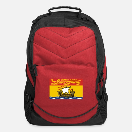 New Bags & Backpacks - Flag of New Brunswick, Drapeau Nouveau-Brunswick, - Computer Backpack red