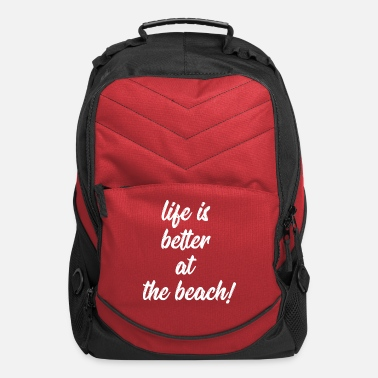 beach quote - Computer Backpack