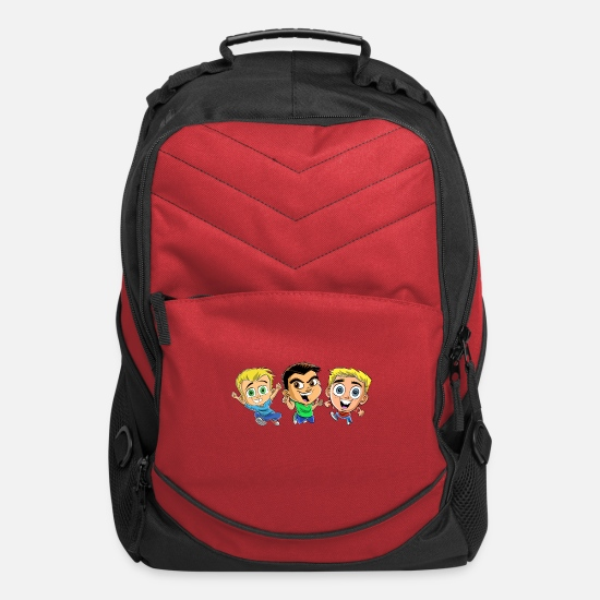 Kids Bags & Backpacks - HobbyKids as Cartoons! - Computer Backpack red