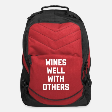 Backpack Wines Well Funny Quote - Computer Backpack