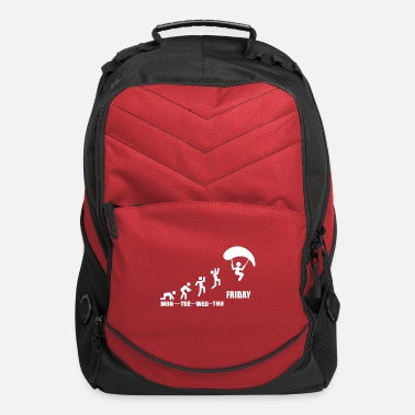 Slide Paragliding paraglider pilot weekly planning gift - Computer Backpack