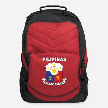 Tagalog Philippines coat of arms in Tagalog design - Computer Backpack