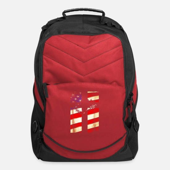Christianity Bags & Backpacks - Christian Patriotic T Shirt - New Christianity T-Shirt - Computer Backpack red