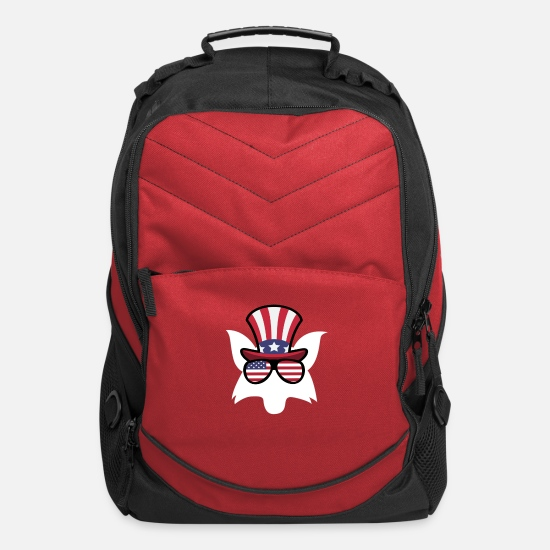 Independence Day Bags & Backpacks - Fox Happy 4th Of July - Computer Backpack red