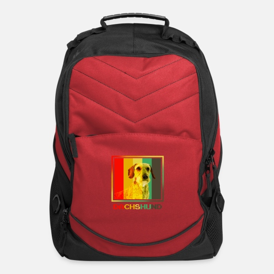 Easter Bags & Backpacks - Dachshund - Computer Backpack red