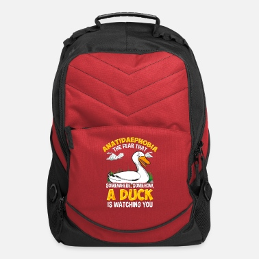 Funny Duck Duck Ducks Funny Anatidaephobia Fear Gift - Computer Backpack