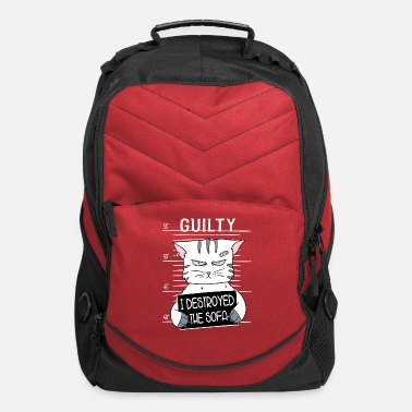 Guilty Of Crime Guilty Of Crime Bad Jail Cat Prison Kitty Gift - Computer Backpack