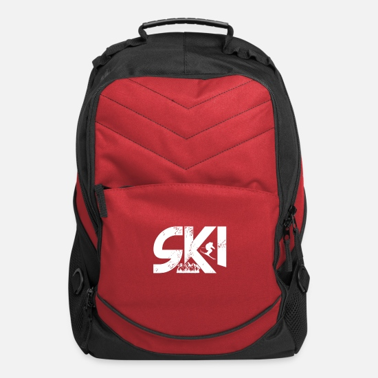 Skirt Bags & Backpacks - Ski jump gift winter sport ski vacation - Computer Backpack red