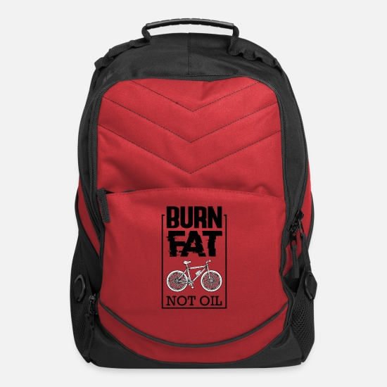 Mountain Bags & Backpacks - Burn Fat Not Oil Bike Say Biker Gift - Computer Backpack red