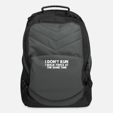 Ultras I don't run I walk twice at the same time funny - Computer Backpack