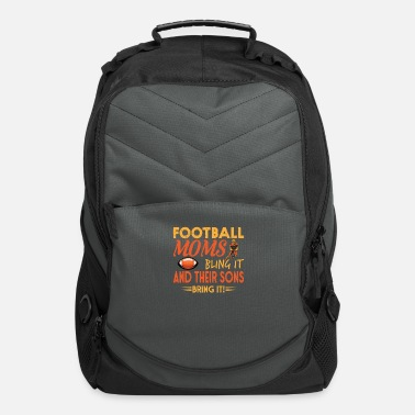 Gaming Football Mom Sons sport Playinfield shirt design - Computer Backpack