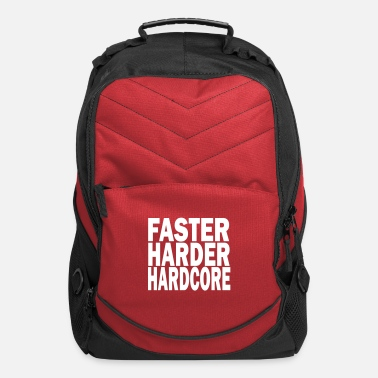 Loud faster harder hardcore - Computer Backpack