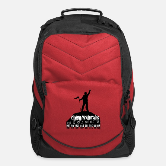 Climbing Bags & Backpacks - Climb Mountains, see the World - Computer Backpack red