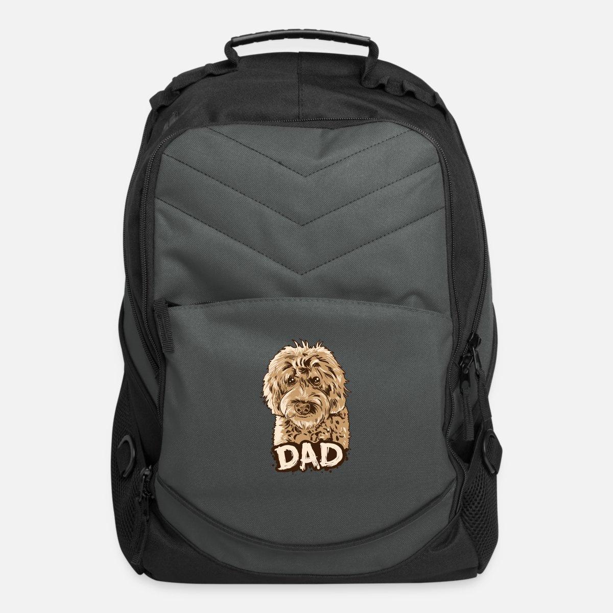 Golden Backpack Computer Mens Bag