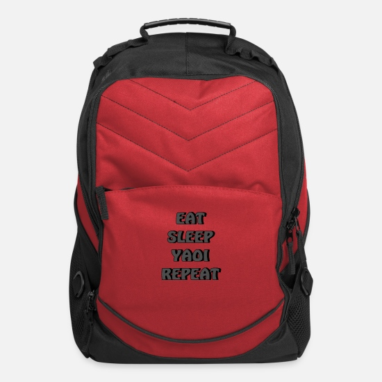 Gift Idea Bags & Backpacks - Eat Sleep Yaoi Repeat Anime Otaku - Computer Backpack red