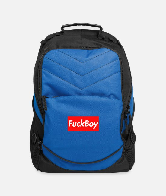 Parody Bags & Backpacks - FuckBoy (Supreme Spoof) Perfect For Cheaters - Computer Backpack royal blue