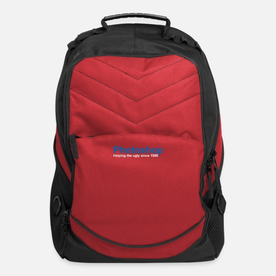 Photoshop Bags & Backpacks - Photoshop Helping The Ugly Since 1988 - Computer Backpack red
