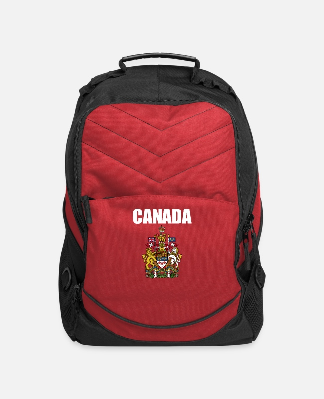 Royal Bags & Backpacks - Canada Coat Of Arms Royal - Computer Backpack red