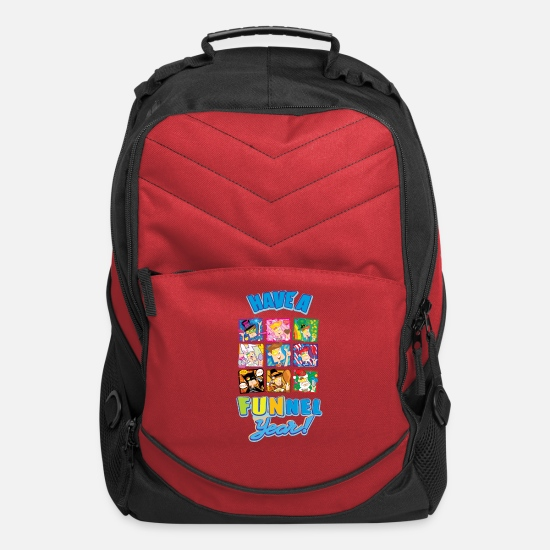 Youtube Bags & Backpacks - Have a FUNnel Year - Computer Backpack red