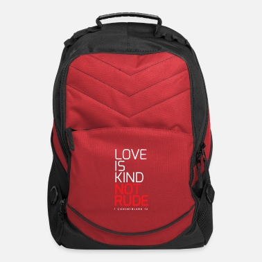 Couple Marriage Spiritual LOVE IS KIND NOT RUDE - Computer Backpack