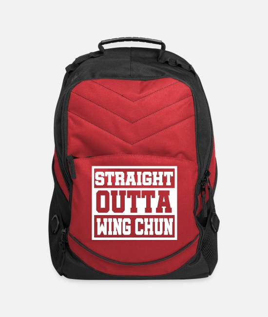 Martial Arts Bags & Backpacks - Straight outta Wing Chun - Computer Backpack red