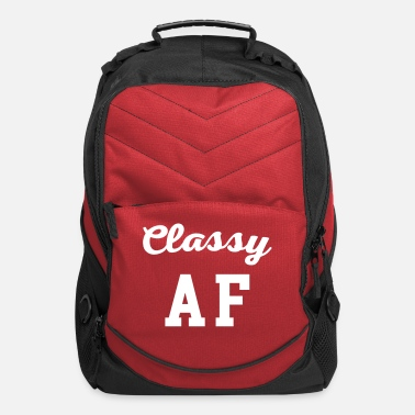 Rude Classy AF Funny Quote - Computer Backpack