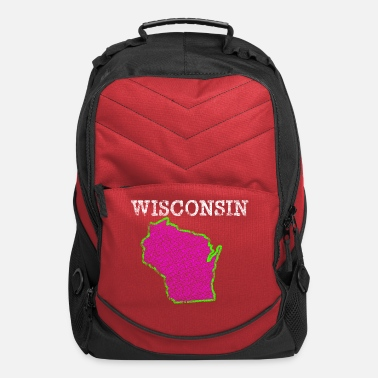 Wisconsin Funny A Wisconsin State Clothing Shirts Apparel Tees - Computer Backpack