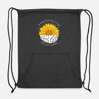 Health The Sun Will Rise And We Will Try Again Mental - Sweatshirt Drawstring Bag