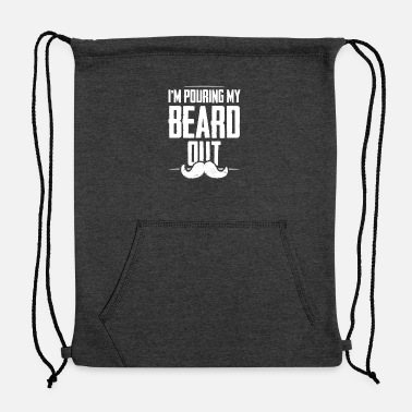 I Love I love My Beard - Sweatshirt Drawstring Bag