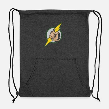 Dangerous Hand Holding Electrical Bolt Dangerous Job - Sweatshirt Drawstring Bag