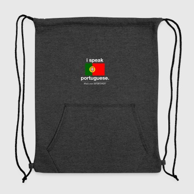SUPERPOWER portuguese - Sweatshirt Cinch Bag