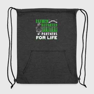 Father And Daughter Hunting Partners Shirt - Sweatshirt Cinch Bag