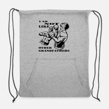 Octagon Boxer I Am Not Like Other Grandfathers # - Sweatshirt Drawstring Bag